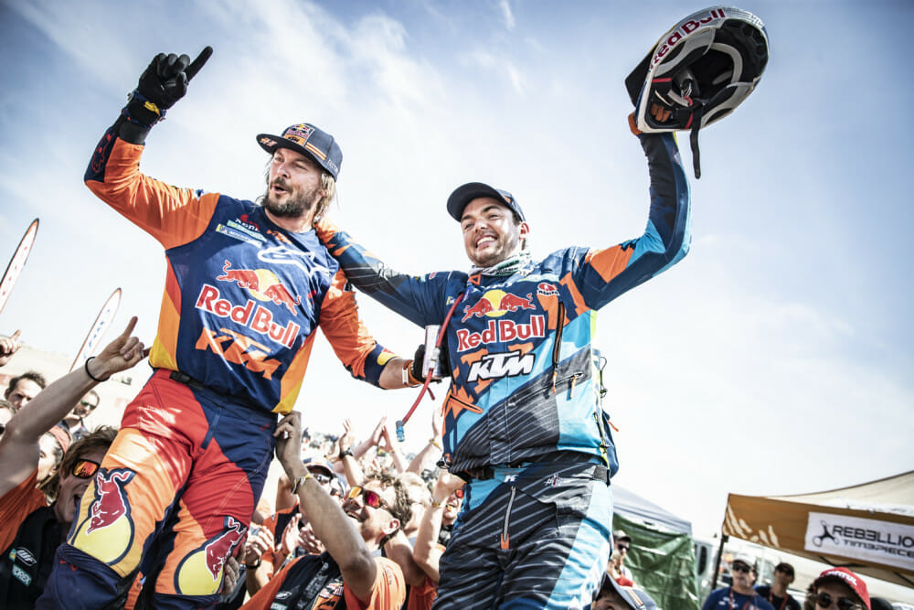 Toby Price and Teammate Matthias Walkner at 2019 Dakar Rally